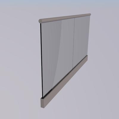 q railing easy glass top mount. Black Bedroom Furniture Sets. Home Design Ideas